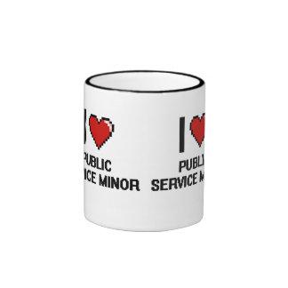 I Love Public Service Minor Digital Design Ringer Mug