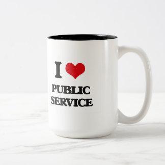 I Love Public Service Two-Tone Mug
