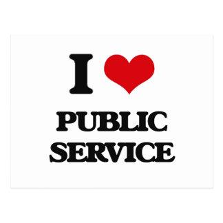 I Love Public Service Postcards