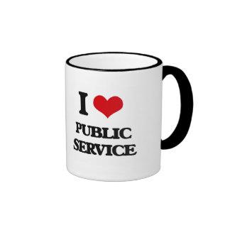 I Love Public Service Ringer Mug