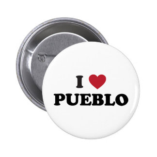 I Love Pueblo Colorado 6 Cm Round Badge