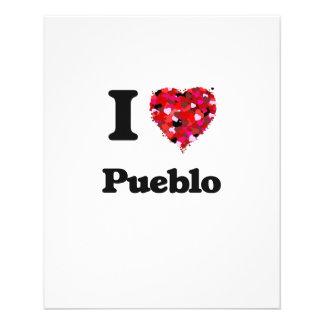 I love Pueblo Colorado 11.5 Cm X 14 Cm Flyer