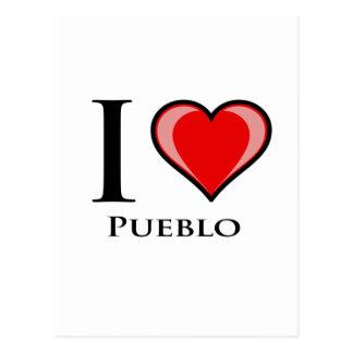 I Love Pueblo Postcard