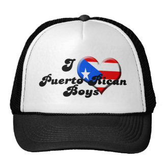 i love puerto rican boys trucker hat