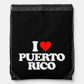 I LOVE PUERTO RICO DRAWSTRING BAG