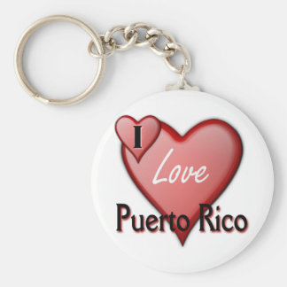 I Love Puerto Rico Key Ring