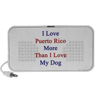 I Love Puerto Rico More Than I Love My Dog Travelling Speakers