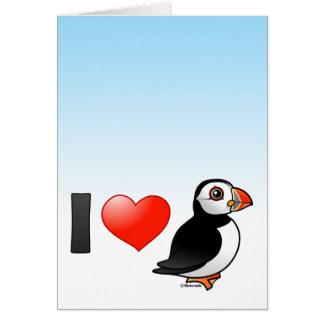 I Love Puffins Card