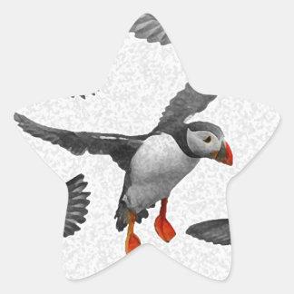 I Love Puffins! Star Sticker