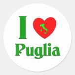 I Love Puglia Italy Classic Round Sticker