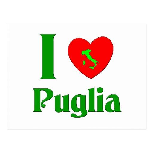 I Love Puglia Italy Post Card