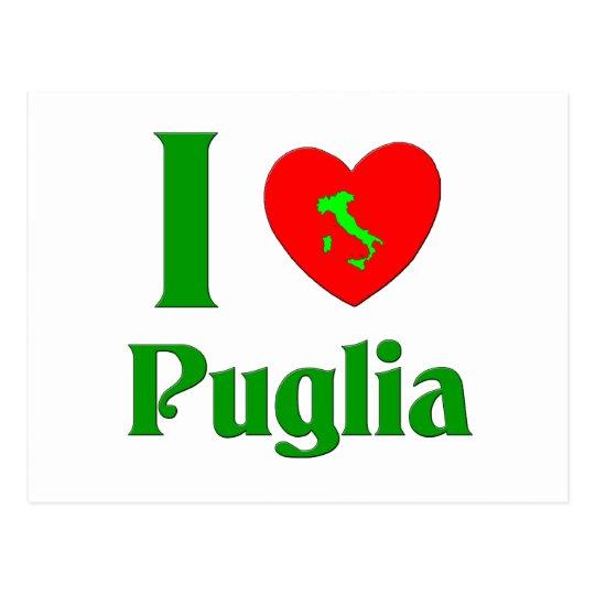 I Love Puglia Italy Postcard