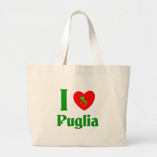 I Love Puglia Italy Jumbo Tote Bag
