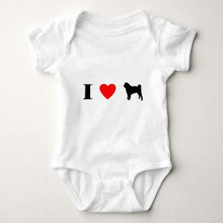 I Love Pugs Baby Creeper