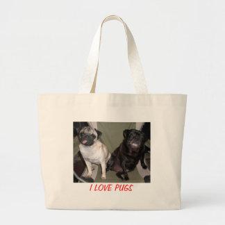 I LOVE PUGS BAGS