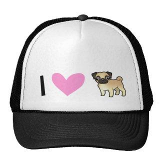 I Love Pugs Cap