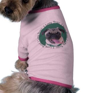 I Love Pugs Dog T-shirt