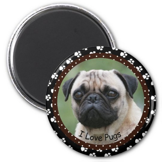 I love Pugs Magnet