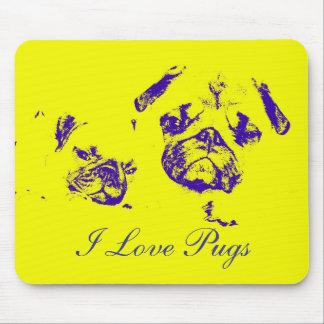 I Love Pugs, Mouse Pad