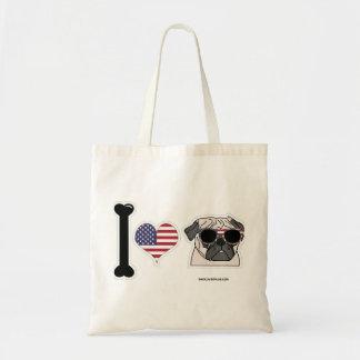 I Love Pugs - Patriotic