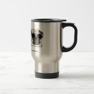 I Love Pugs - Patriotic Travel Mug