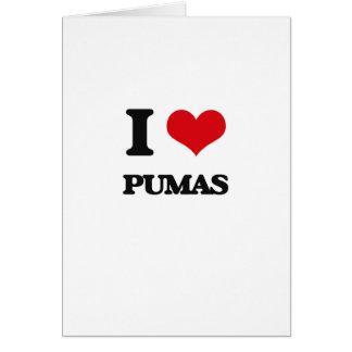 I Love Pumas Greeting Card