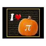 I Love Pumpkin Pie and Pi Math Numbers Orange Gold