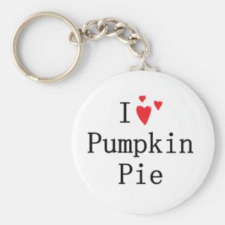 I love Pumpkin Pie Key Ring