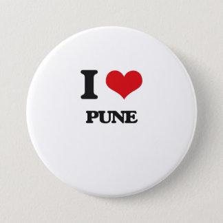 I love Pune 7.5 Cm Round Badge