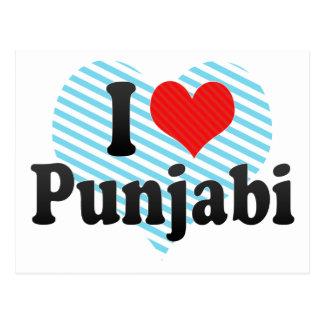 I Love Punjabi Postcard