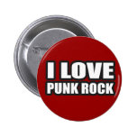 I LOVE PUNK ROCK for punk girls an guys 6 Cm Round Badge