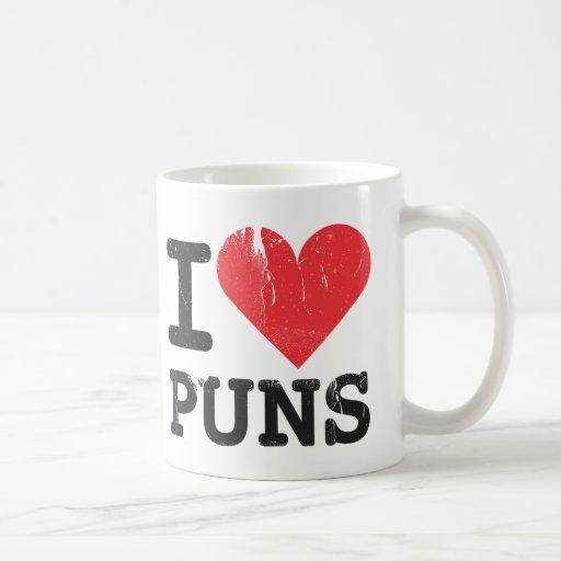 I Love Puns Classic White Mug
