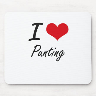 I Love Punting Mouse Pad