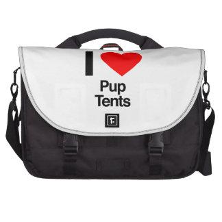 i love pup tents laptop bag