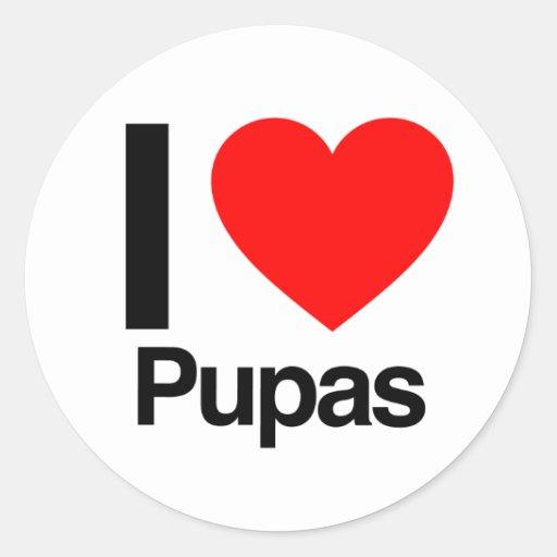 i love pupas sticker