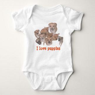 I love puppies baby bodysuit