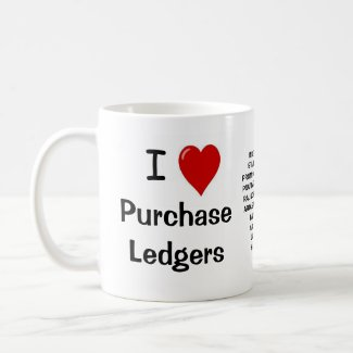 I Love Purchase Ledgers - Triple Sided