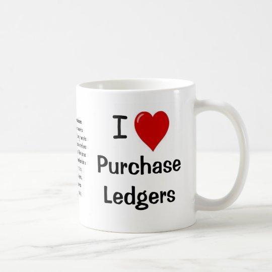 I Love Purchase Ledgers - Triple Sided Coffee