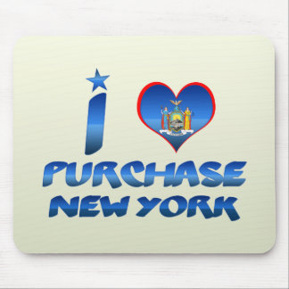 I love Purchase, New York Mouse Pads
