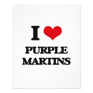 I love Purple Martins Personalized Flyer