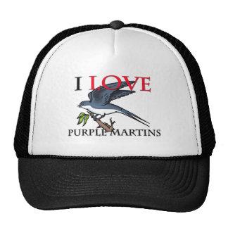 I Love Purple Martins Trucker Hats