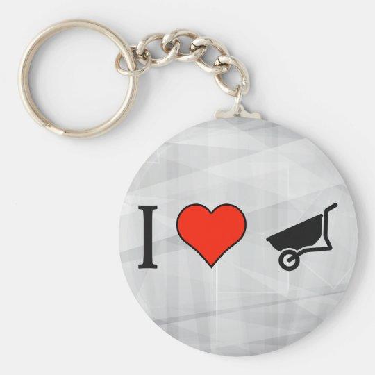 I Love Pushing A Wheelbarrow Key Ring