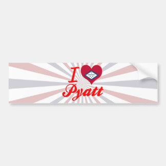 I Love Pyatt Arkansas Bumper Stickers