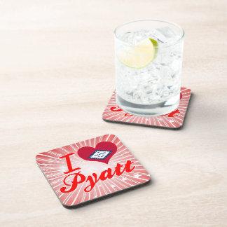 I Love Pyatt Arkansas Beverage Coasters