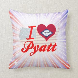 I Love Pyatt Arkansas Throw Pillows