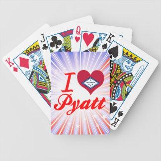 I Love Pyatt Arkansas Playing Cards