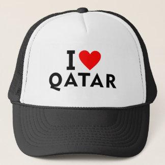 I love Qatar country like heart travel tourism Trucker Hat