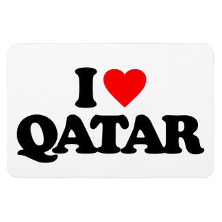 I LOVE QATAR VINYL MAGNETS