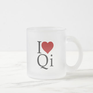 I Love Qi Frosted Cup