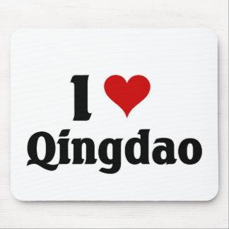 I love Qingdao, China Mouse Mat